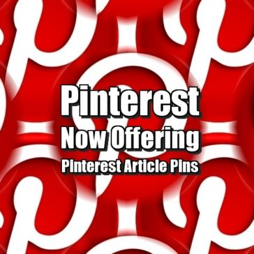 Pinterest Now Offering Pinterest Article Pins