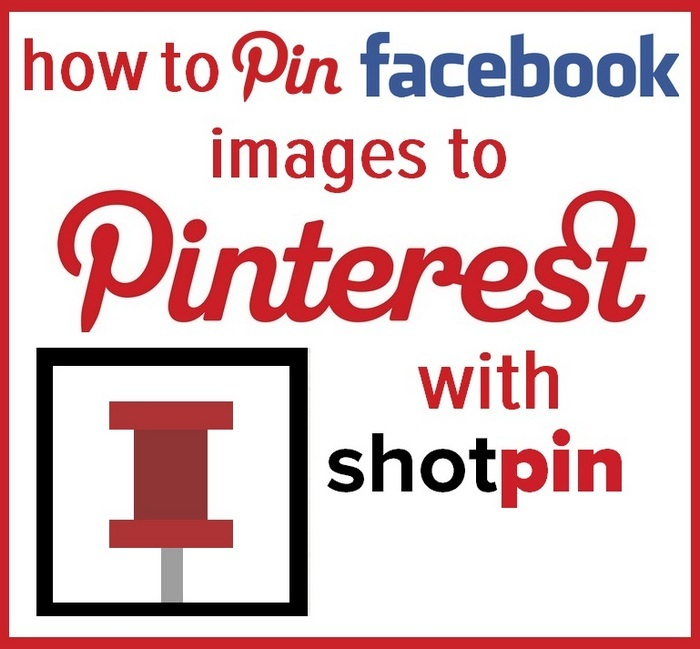 How to pin Facebook images to Pinterest with Shotpin