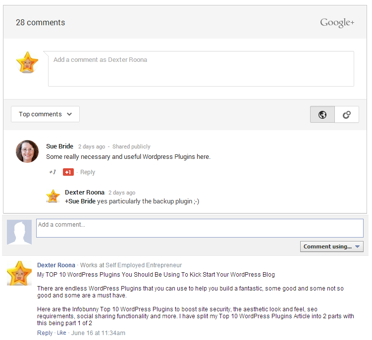 Top 10 WordPress Plugins Comments Evolved Google Plus and Facebook Comments