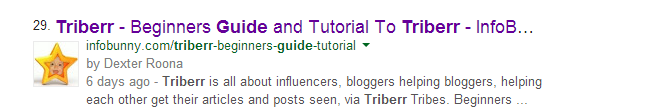 Triberr Guide Search Engine Results