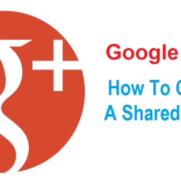 How To Create A Google Plus Shared Circle