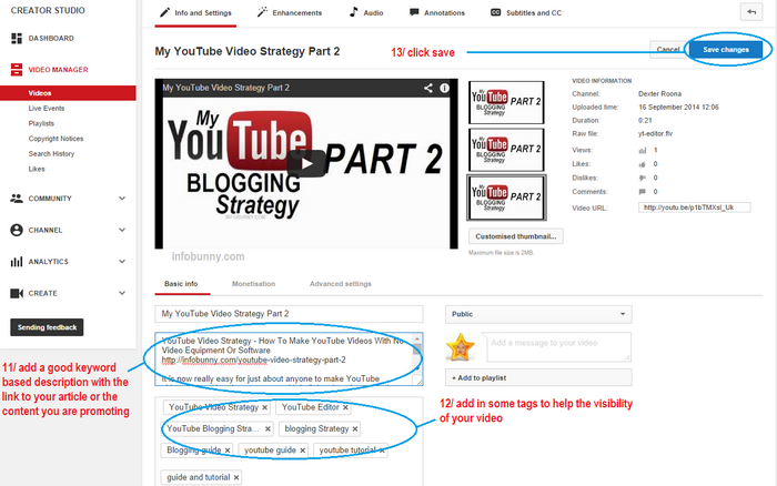YouTube Video Strategy Part 2 add a description and keywords