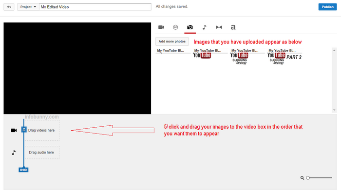 YouTube Video Strategy part 2 adding images continued