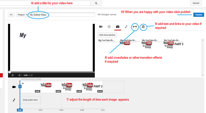 YouTube Video Strategy part 2 adding images options
