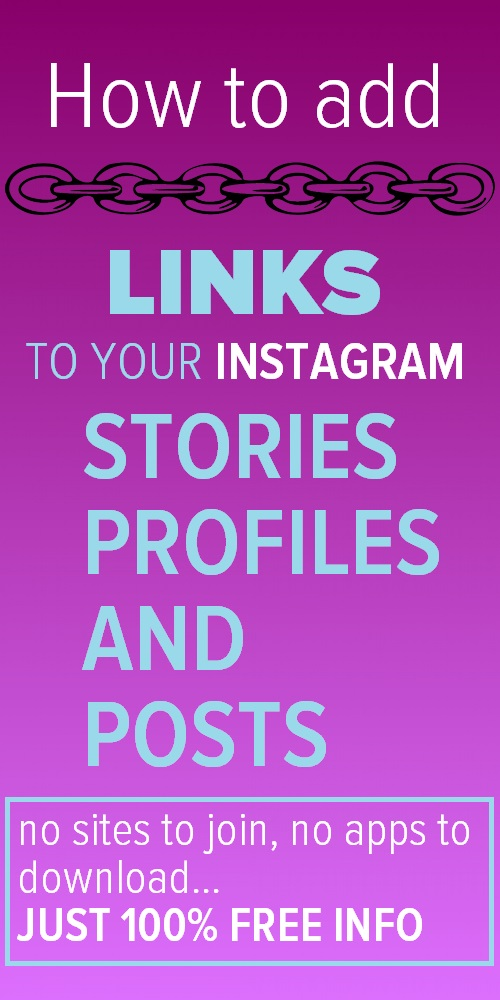 Clickable links on Instagram - How to add links to posts, pages and