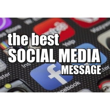 What's the best social message when using social media