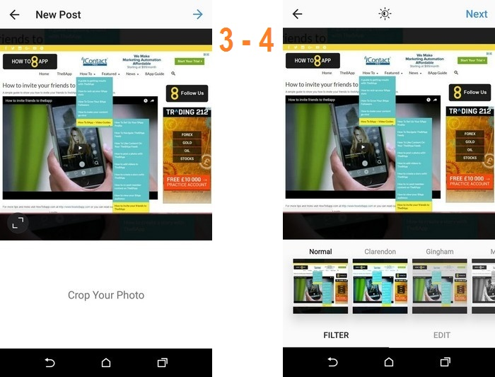 HOW TO SOCIAL SHARE TO INSTAGRAM IMAGE 3 AND 4
