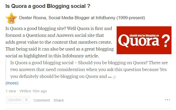 Is Quora a good blogging social?
