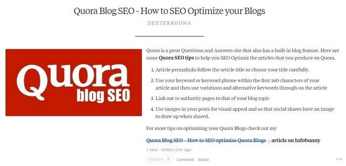 Quora Blog cutdown example