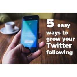 5 Easy Ways to Grow your Twitter Following