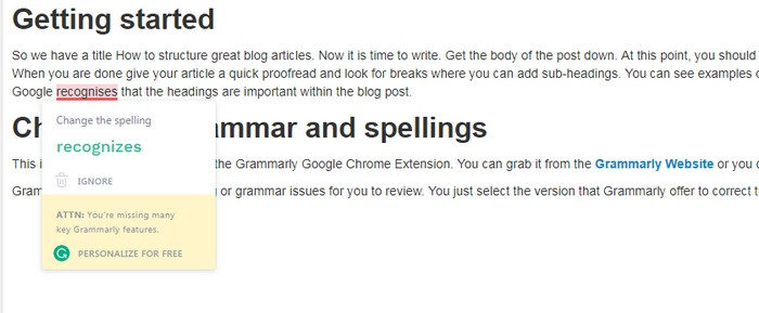 How to structure great blog articles - Grammarly