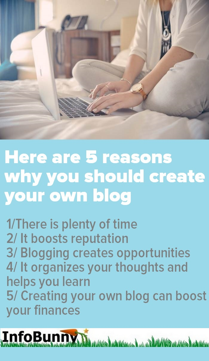 5 reasons create your own blog