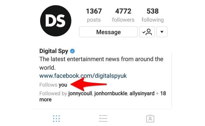 Instagram Follows You Feature