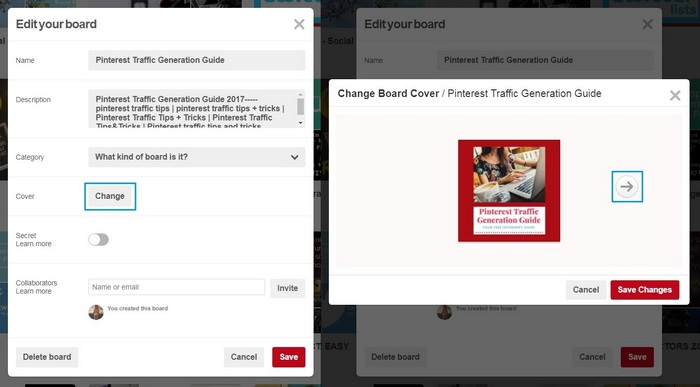 How To Set A Pinterest Board Cover Image