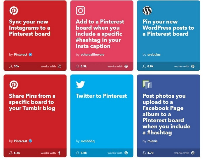 Pinterest Mobile App - IFTTT - Syndication examples