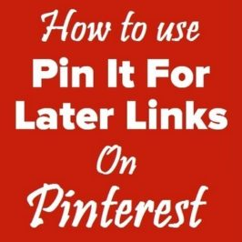 Pin It For Later Links – How to get Facebook shares to Pinterest