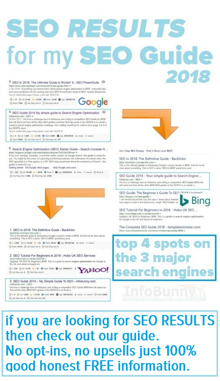 SEO GUIDE 2018 - SEARCH RESULTS