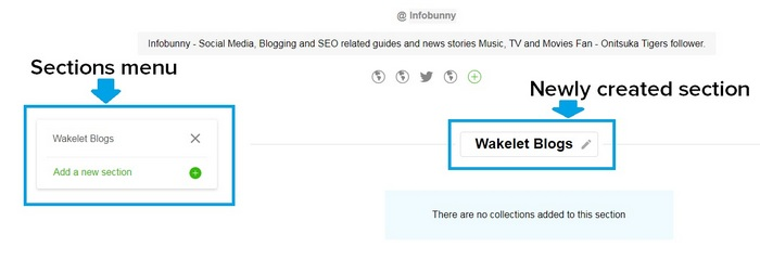 Wakelet getting started guide - Sections image 2