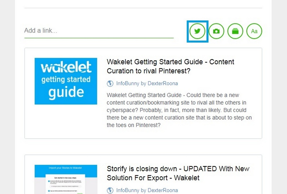 Wakelet Twitter Import Feature