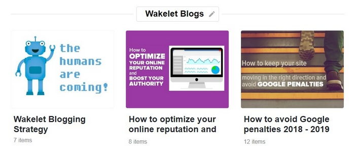 Wakelet getting started guide - Sections image 4