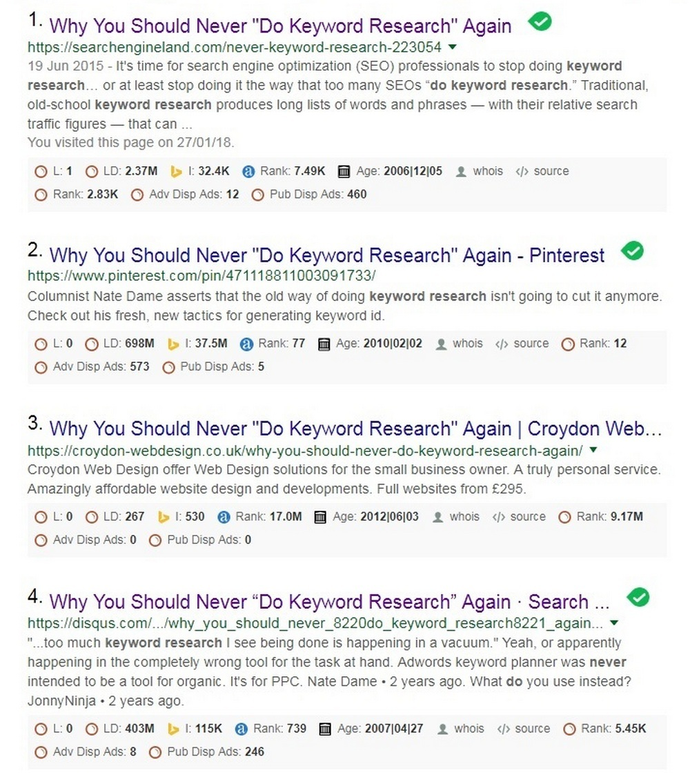 Never do keyword research again