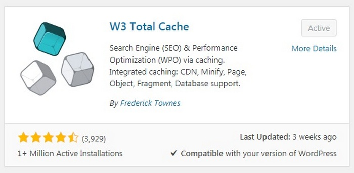 WordPress Mistakes - WP Total Cache