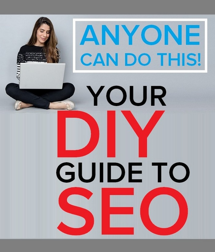 Intro graphic, girl on laptop - How to do SEO yourself in 2020