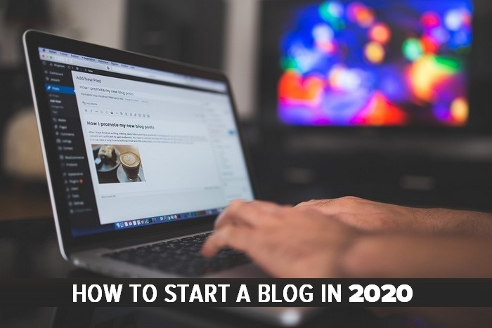How to start a blog in 2020 - LAPTOP GRAPHIC