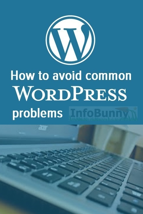 How to avoid WordPress problems - Pinterest image