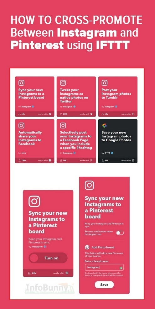 How to cross-promote using Instagram - Pinterest Graphic
