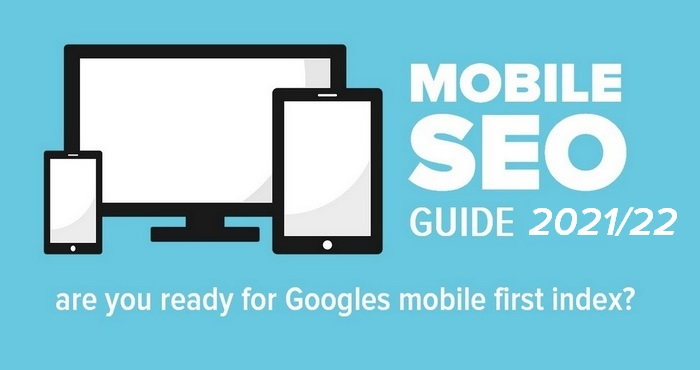 Text graphic for the article - Mobile SEO Guide 2021-22