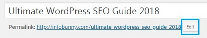 WordPress SEO Guide - edit your URL