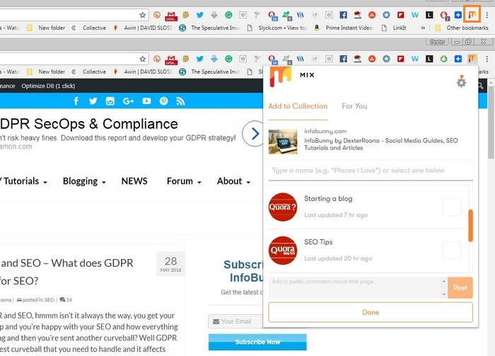 StumbleUpon is closing - Mix Chrome Extension - Here is your Mix getting started guide