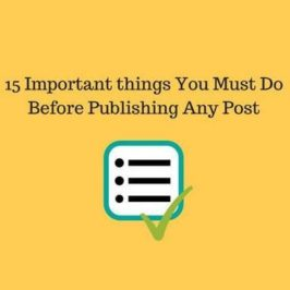 15 Important Things To Do Before Publishing A Blog Post