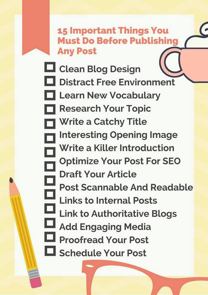 15 important things to do before publishing a post