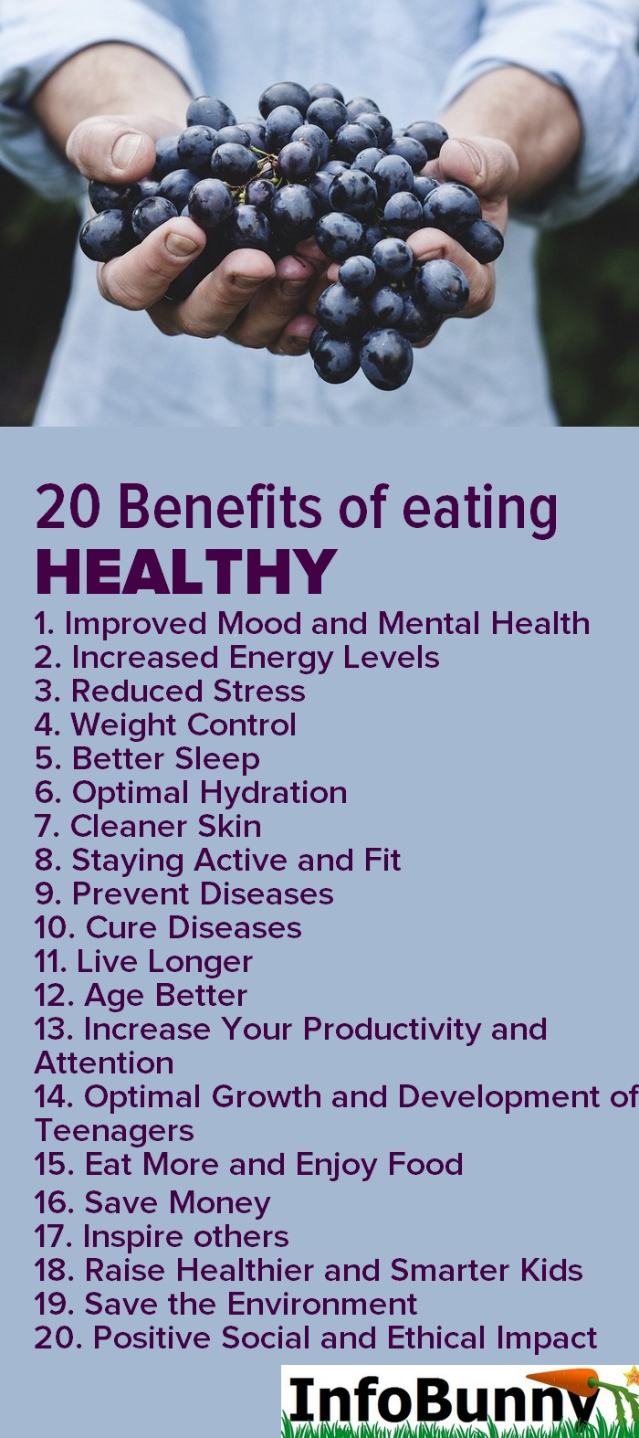 20 Benefits of healthy eating