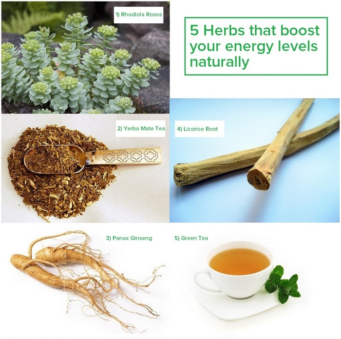 5 herbs that boost your energy levels