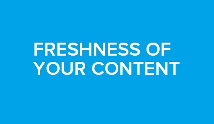 how o optimize for rankbrain Freshness Of Your Content
