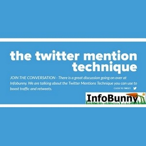 My Infobunny Twitter Mentions Technique - Boost retweets, follows, likes, comments