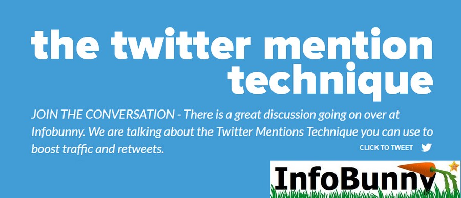 My Infobunny Twitter Mentions Technique