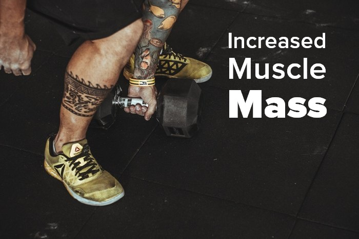 Exercises that boost your energy Increased Muscle Mass