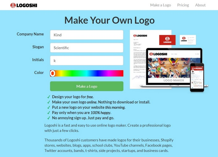 How to create a logo in Logoshi