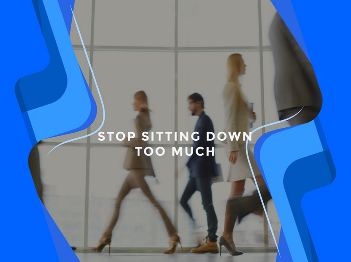 Office exercises for the workplace - stop sitting down