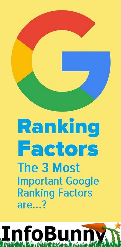 Ranking Factors - The 3 Most Important Google Ranking Factors are...?