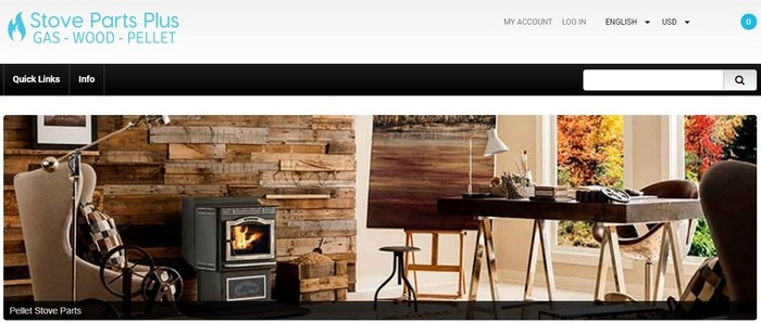 Stove Parts Plus sell gas, wood, and pellet stove parts, as well as user manuals. - Zen Cart website homepage