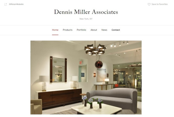 Dennis Miller Associates screen capture of the homepage