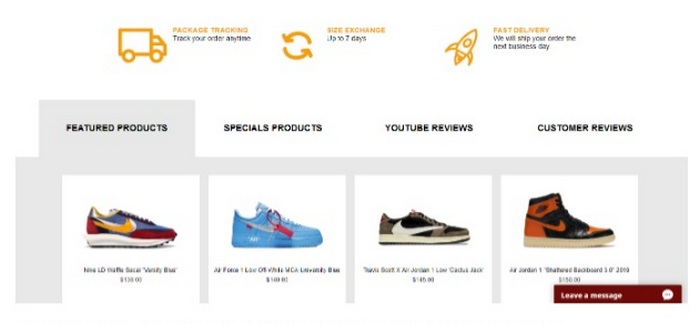 At Flight Kickz, consumers can buy sneakers and other sports shoes.