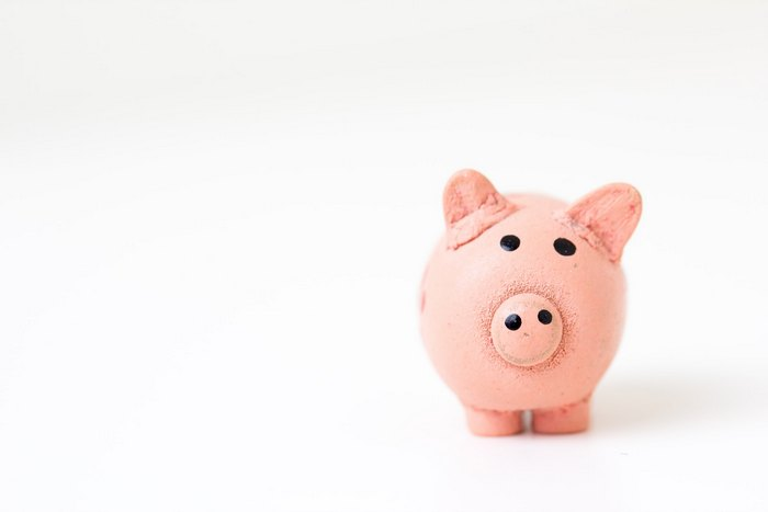 Piggy bank image - Base your digital marketing budget on your income.