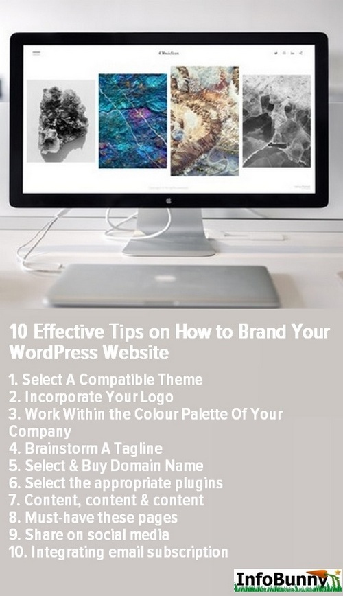 Brand Your WordPress Website - Pinterest share image