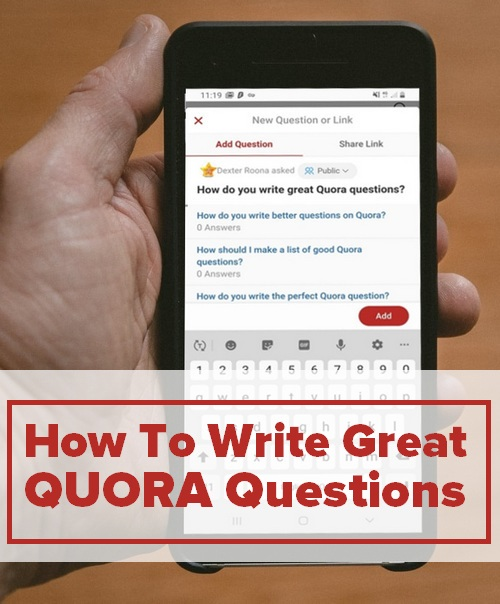 How to write great Quora questions  - Graphic